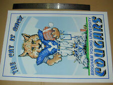 DECOR POSTER: Brigham Young BYU Cougars 12x18 Football College Cat Is Back OOP