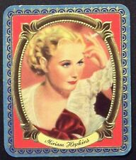 Miriam Hopkins 1936 Garbaty Passion Film Star Embossed Cigarette Card #113