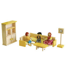 Timbertop dolls furniture - lounge room x 5 -- wood -- dollhouses