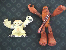 "7"" CHEWBACCA AND WAMPA POSEABLE FIGURES"