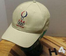 2008 BEIJING OLYMPICS USA BEIGE STRAPBACK ADJUSTABLE HAT IN VERY GUC         H4