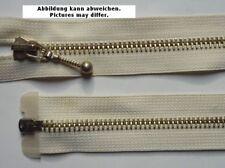 Opti Reißverschluss teilbar Metall mit Schmuckschieber 65 cm ecrue