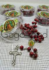 12 Virgen De Guadalupe Red Rosarys Rosario Recuerdos de Bautizo Baptism Favors
