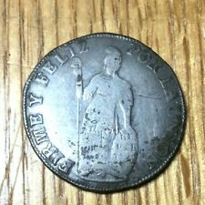 Peru 1835 4 reales Cuzco Moneda Falsa silver Rare peso corwn Lima