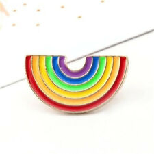 Cute Rainbow Designed Pin Brooch Chic Clothes Bag Collar Pins Brooches Jewelry ^