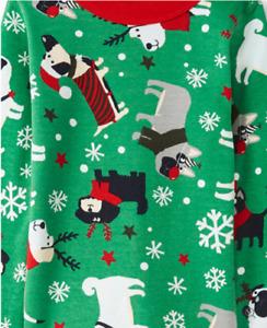 NWT HANNA ANDERSSON GREEN DOGS HOLIDAY CHRISTMAS PAJAMAS 110 5