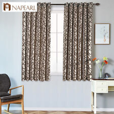 NAPEARL 1 Panel Window Striped Curtains Drapes Grommet Top Kitchen Short Shades