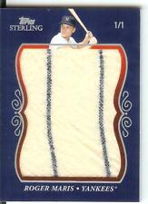 2008 Topps Sterling Super Jumbo Patch Pants Roger Maris #1/1 Dual Pinstripe