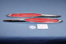 NOS 1957 CHEVROLET 3100 PICKUP TRUCK FRONT FENDER MOULDINGS #3733301 & #3733302