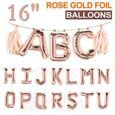 "16""/40cm Alphabet Letter Foil Balloon Rose Gold Birthday Xmas Party Hourse BTAU"