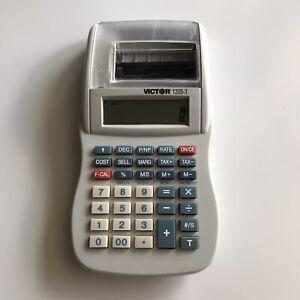 Victor 1205-3 Calculator Desktop Printer, Financial Calculations Accounting EUC