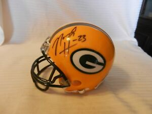 Noah Herron #23 Green Bay Packers Signed Mini Helmet