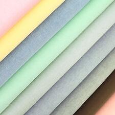 Woven Cotton Fabric FQ Classic Plain Colour Oxford Weave Shirt Dress Crafts VP6