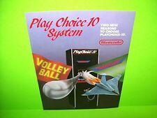 Nintendo PLAY CHOICE 10 Gradius / Volley Ball Original Video Arcade Game Flyer
