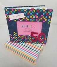 50th Birthday Celebration Photo Album Unisex Picture Book Spotty Gift Present