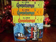 4 SETS OF VINTAGE GOOSEBUMPS HORRORLAND BOOKS BY RL STINE 25 BOOKS 4 SLIPCOVERS