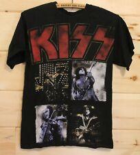 Authentic KISS Rock Band Vintage Tour Concert Adult Black T-Shirt Size Small +