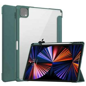 Flip Smart Stand Case Cover Clear Hard Back for iPad Pro 12.9inch 2018 2020 2021
