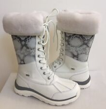 UGG ADIRONDACK TALL III SNAKE WHITE WATERPROOF Boot US 8.5 / EU 39.5 / UK 7 NIB