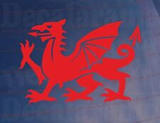 Welsh Cymru Dragon Novedad car/van/bumper / window/door/laptop pegatina de vinilo