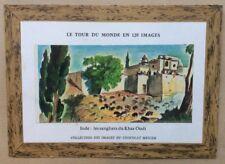Image CHOCOLAT MEUNIER Cadre KHAS OUDI LE TOUR DU MONDE EN 120 IMAGES Chromo