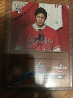 SHOHEI OHTANI 2018 TOPPS OPENING DAY ROOKIE RC CARD # 200 LOS ANGELES ANGELS HOT