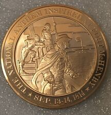 """USA History 🇺🇸 """"Year 1814"""" Franklin Mint 44mm Proof Bronze Medal"""