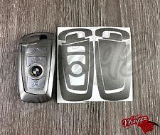 Silver Grey Gloss BMW Key Sticker Decal Overlay Series 3 F30 F31 F34 F35 F80 M3