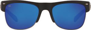 COSTA DEL MAR-PAWLEYS 11 OBMGLP Shiny Black Polarized Blue Mirror 580G