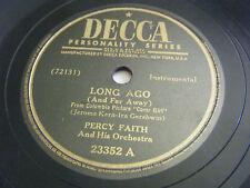 PERCY FAITH 78 Long Ago / I Love You 1944 Decca 23352 VG+