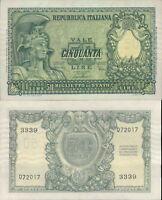 REPUBBLICA ITALIANA- 50 LIRE ITALIA ELMATA  DEC.31/12/1951 FDS RARO AL.