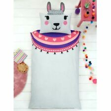 SHAPED LLAMA SINGLE DUVET COVER SET WITH EARS 3D CACTUS PONCHO CHILDRENS