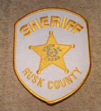 TX Rusk County Texas Sheriff Patch