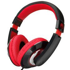 Over Ear Boys Girls Childs Kids DJ Headphones iPod MP3 DVD Tablets PC Red Balck