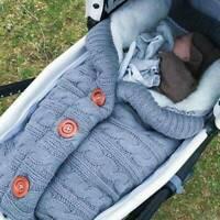 bébé langes couverture Wrap sac de couchage chancelière confortables crochet G