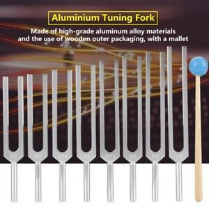 8Pcs Aluminium Medical Tuning Fork Instruments Tuning Vibration Therapy Tool Set