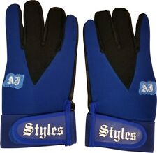 AJ Styles Blue Pro Wrestling Fight Gloves