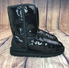 Uggs Australia Sequins Boots Women Size 6 Sheep Skin Inner Lining