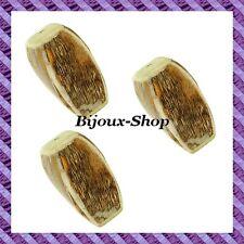 4 Perlen rechteck Kokosnuss verdreht 35mm