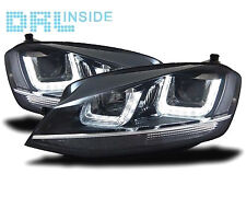 Fari Anteriori Dayline Diurne DRL LED GTI GTD R Volkswagen Golf VII 7 FONDO Nero