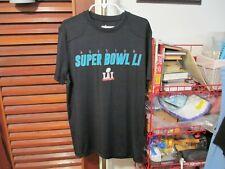 Men's NFL Brand Houston Super Bowl LI (51)black t-shirt-EUC-FREE SHIPPING