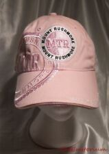 NEW NWOT Luckee Mount Rushmore Embroidered Womens Pink Souvenir Adjustable Hat