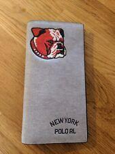 Ralph Lauren NY Long HOMME Portefeuille. Bulldog imprimer avec intérieur rouge