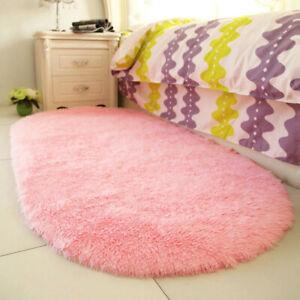 Fluffy Rugs Anti-Slip Shaggy Rug Super Soft Carpet Floor Mat Living Room Bedroom