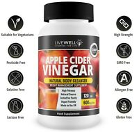 Apple Cider Vinegar 600mg 120 Tablets – GMP – UK Made – Mother – Weight Loss