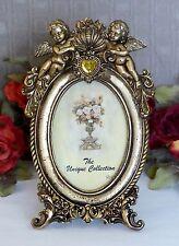 Bilderrahmen Antik Fotorahmen Barock Rahmen Prunkrahmen gold Herz Engel Putten