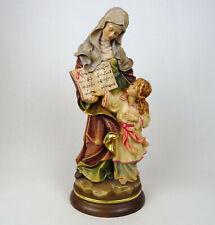 Religiöse Holzigur Hl. Mutter Anna mit Maria, Holz geschnitzt Süddeutschland