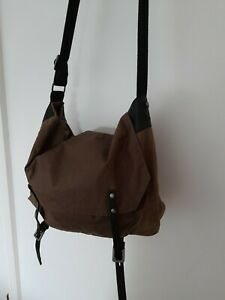 Ally Capellino Waxed cotton large Leather Messenger bag