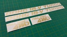 Mazda 323 GT-X GTX GTR  Full Time 4WD Side wings replacement Decals Stickers