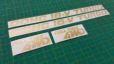 Mazda 323 GT-X GTX GTR Temps Plein 4x4 Ailes Latérales Remplacement decals stickers